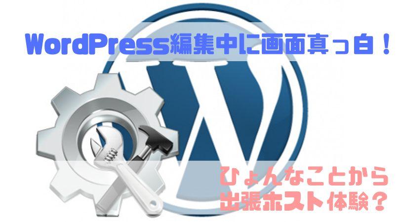 WordPress編集真っ白