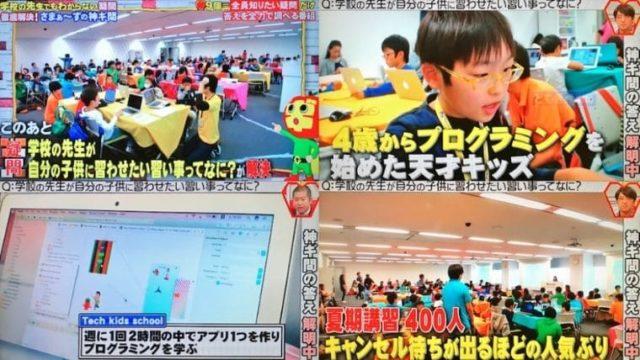 テックキッズスクール テレビ特集